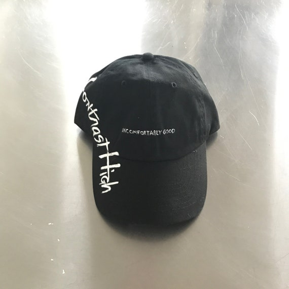 Hand painted dad hat Uncomfortably Good  df9bdf94721