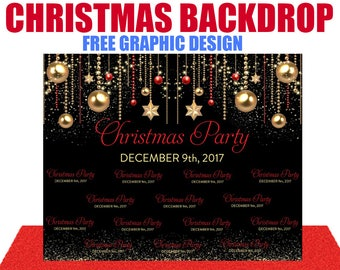 christmas photo booth backdrop for family fun reunion any kind of party step and repeat backdrop birthday backdrop event backdrop