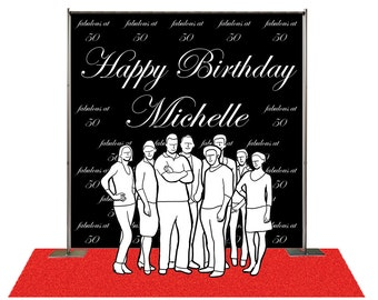 Custom Step And Repeat With Your Logo Photo Backdrop For Wedding Birthdaygraduationparty Event