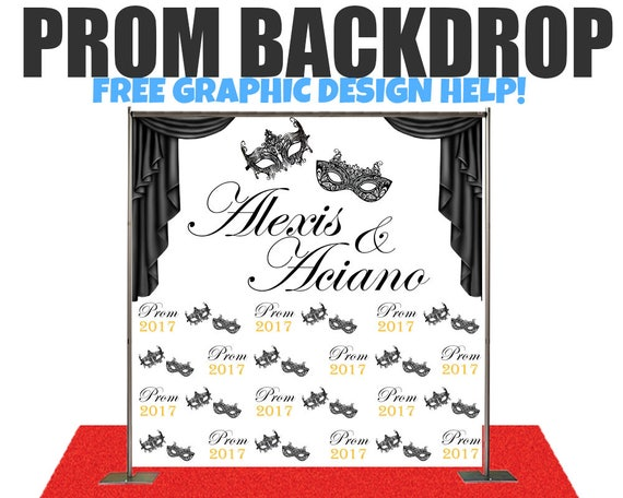Prom Step And Repeat Photo Backdrop For WeddingsBirthday