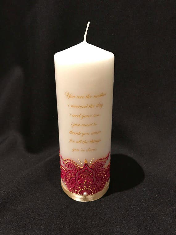 Mother In Law Candle Gift Mother Gift Candle Henna Candle Etsy