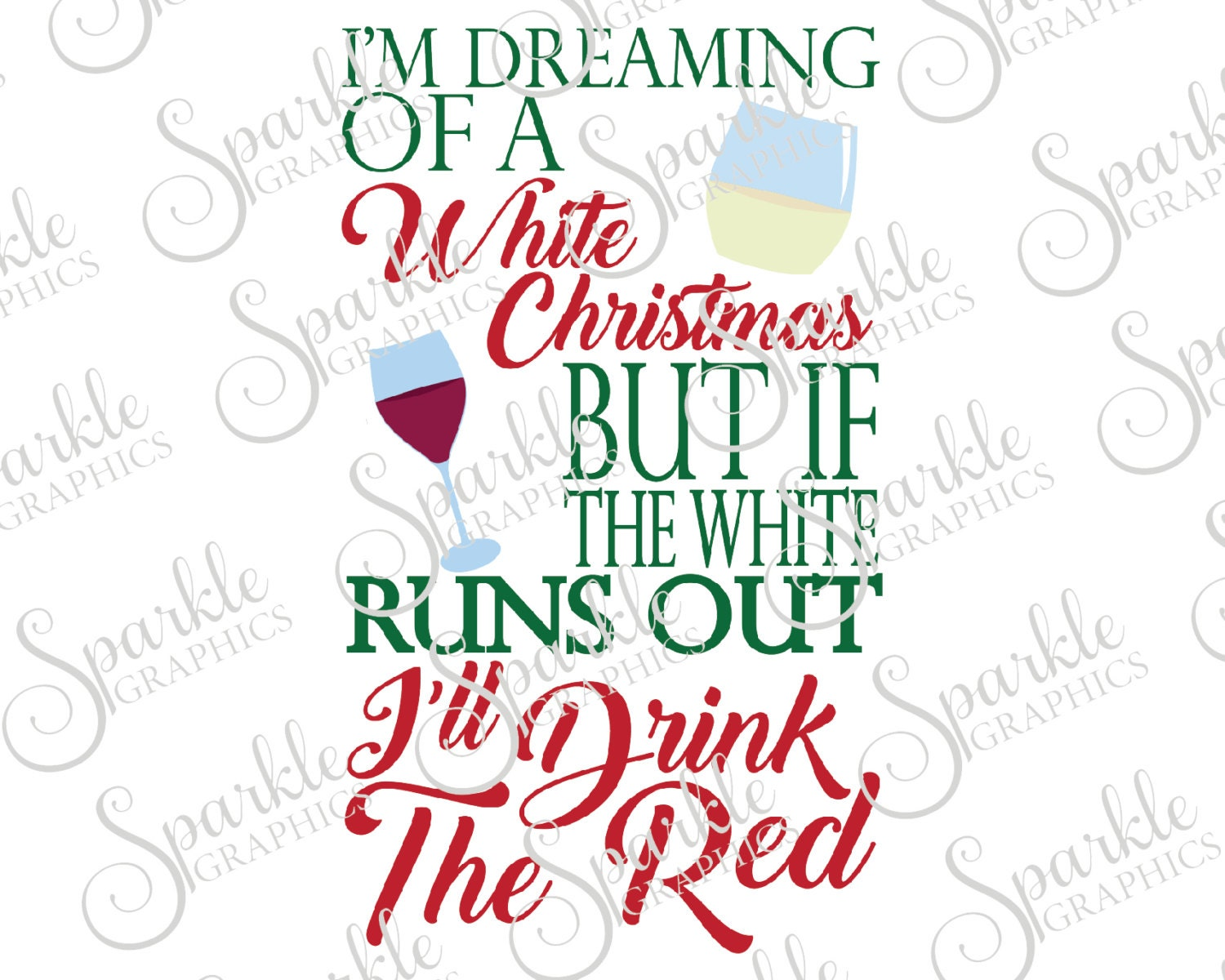 I\'m Dreaming Of A White Christmas Cut File Christmas SVG | Etsy