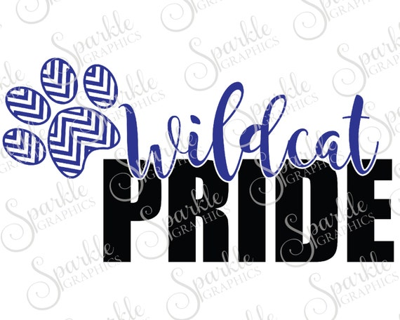 Wildcat Pride Cut File Wildcat Svg Wildcat Mascot Mascot Svg Etsy