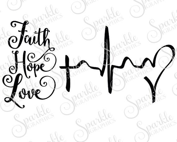 Außergewöhnlich Glaube Hoffnung Liebe geschnitten Datei Korinther 13:13 Jesus | Etsy &ZE_42
