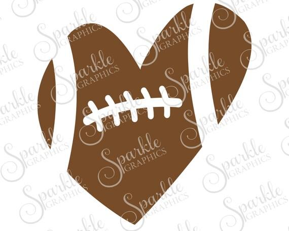 Football Heart Cut File Football Svg Football Team Heart Mom Etsy