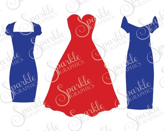 Dress Set Cut File Bachelorette Dress Svg Wedding Svg Party Etsy