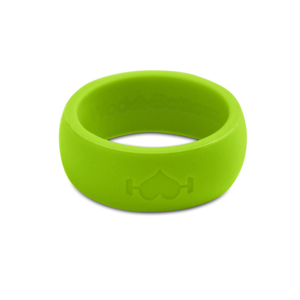 Neon Green Silicone Wedding Ring For Men Perfect For