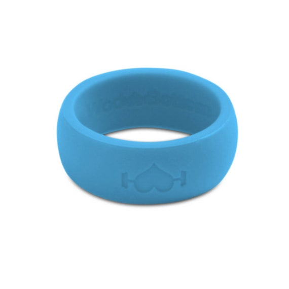 Fitness Black Silicone Wedding Rings for Men WODs Band Perfect for CrossFit