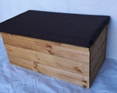 OTTOMAN shoe storage blanket box SOFT CLOSE solid wood many colours padded seat