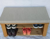 OTTOMAN shoe storage RACK bench 4 colours to choose from
