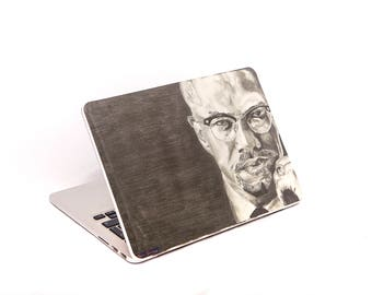 Malcolm X Macbook Decal - Malcolm X Laptop Sticker - Political Art - Political gifts - Activist Art- Malcolm X Poster