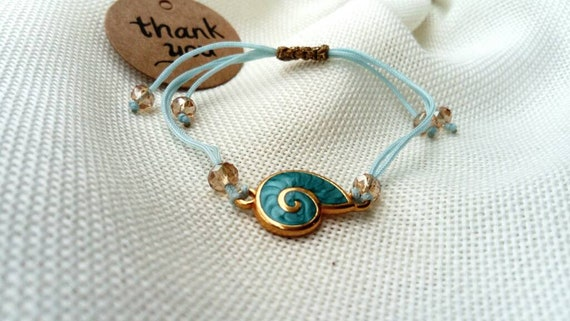 Cowrie Shell Bracelet Bangle Adjustable Simple Women Jewelery gift for her