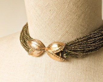 1950s Beaded Statement Necklace