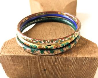 Colorful Cloisonne Enamel Bracelets