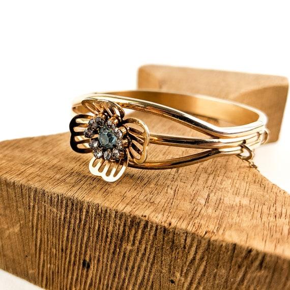 1940s Gold Flower Bracelet