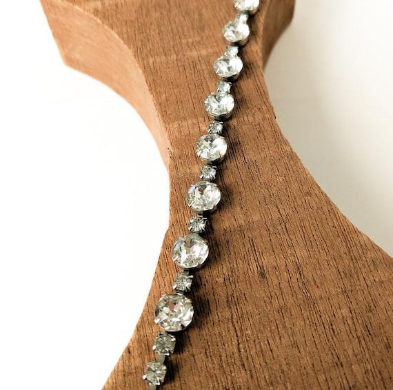 1920s Crystal Rhinestone Bracelet