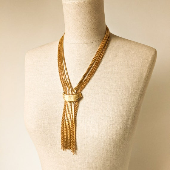 Gold Mid Century Statement Necklace