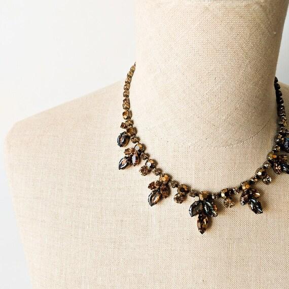 Mid Century Rhinestone Necklace
