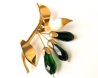 1940s Gold Botanical Brooch