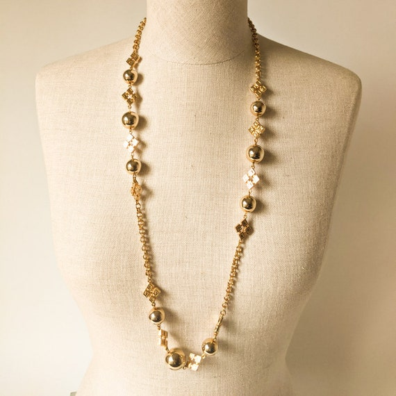 Mid Century Gold Balls Necklace
