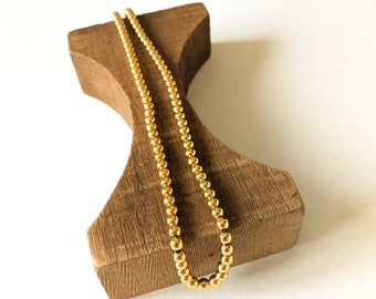Vintage Gold Beads Necklace