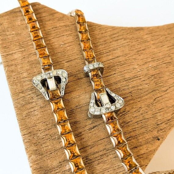 1920s Rhinestone Buckle Jewelry Set
