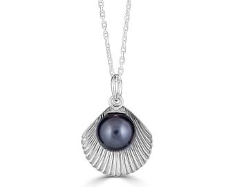 Tahitian Black Pearl Necklace - Tahitian Pearl Necklace - Black Pearl Pendant - Bridesmaid Necklace Pearl - Bridesmaid Gift - Sada Jewels