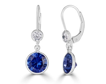 7b854ce9e Blue Sapphire Earrings in 14K Gold Filled or Sterling Silver, Sapphire Drop  Earrings, September Birthstone Earrings, 45th Anniversary Gift