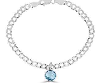 Blue Topaz Bracelet, Sterling Silver Bracelet, December Birthstone Bracelet, Topaz Jewelry, Birthstone Bracelet, Blue Topaz, Sada Jewels
