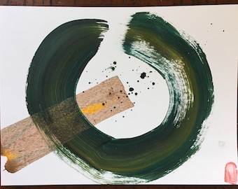 Original art/original painting/wabisabi/abstract painting/abstract art/minimalist/minimalist art/painting/japanese/enso/zen/kintsugi/gift