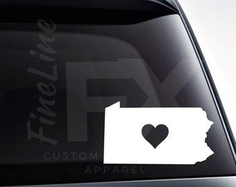 Heart Roots Native Proud Pennsylvania Home State Vinyl Decal Sticker
