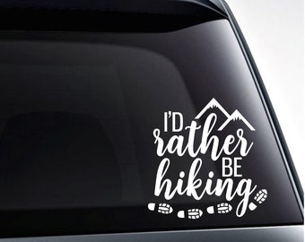 Rather Be Lost In The Woods Than The City Car Truck Window Laptop Decal Sticker