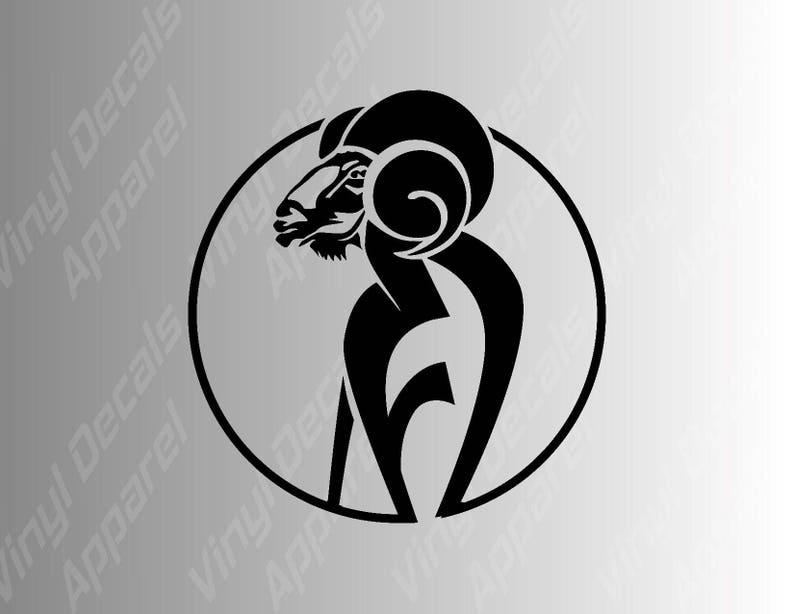 da2b23193 Aries Ram Astrology Zodiac Sign Vinyl Decal Sticker / Decals | Etsy