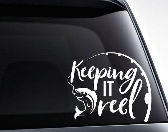Any Colour! Keeping It Reel Fishing//Tackle Box//Car//Van Vinyl Decal Sticker