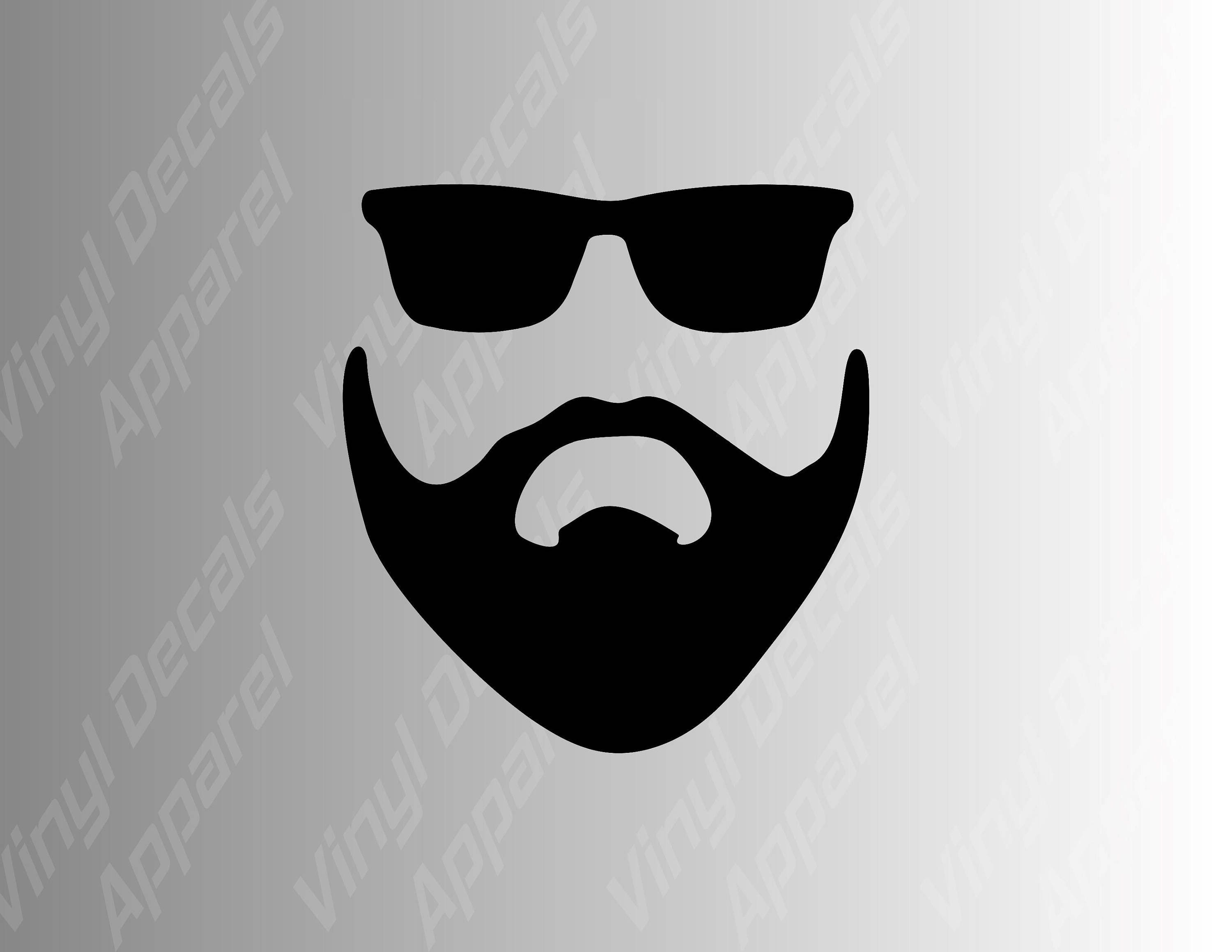 Beard Man Decal