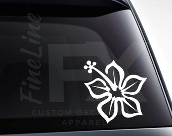 Tropical Hawaiian Hibiscus Flower Vinyl Decal Sticker / Decal For Cars, Laptops, Tumblers And More / Choose Size And Color