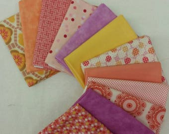 Fun and Funky Fat Eighth Bundle of 12 different fabrics