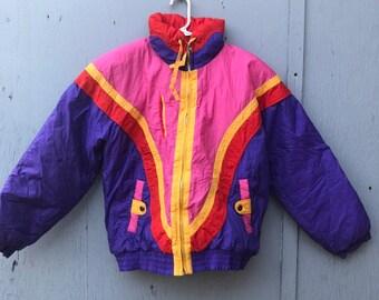 FREE HOLIDAY SHIPPING // Small Neon Winter Jacket
