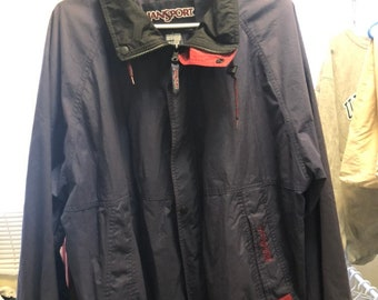 FREE HOLIDAY SHIPPING // Vintage Medium Navy Jansport Jacket