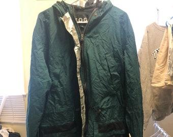 FREE HOLIDAY SHIPPING // Vintage Dark Green Large London Fog Jacket