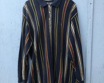 FREE HOLIDAY SHIPPING // Ralph Lauren Chaps Extra Large Striped Shirt
