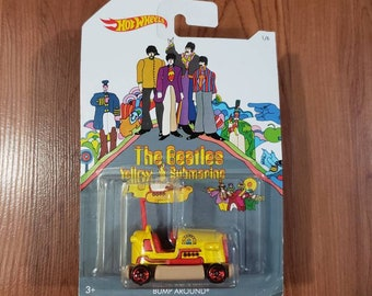2016 Hot Wheels The Beatles Yellow Submarine Bump Around car Mattel collect them all cool gift or decoration for office new sealed