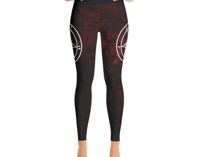 Red Baphomet Yoga Pants
