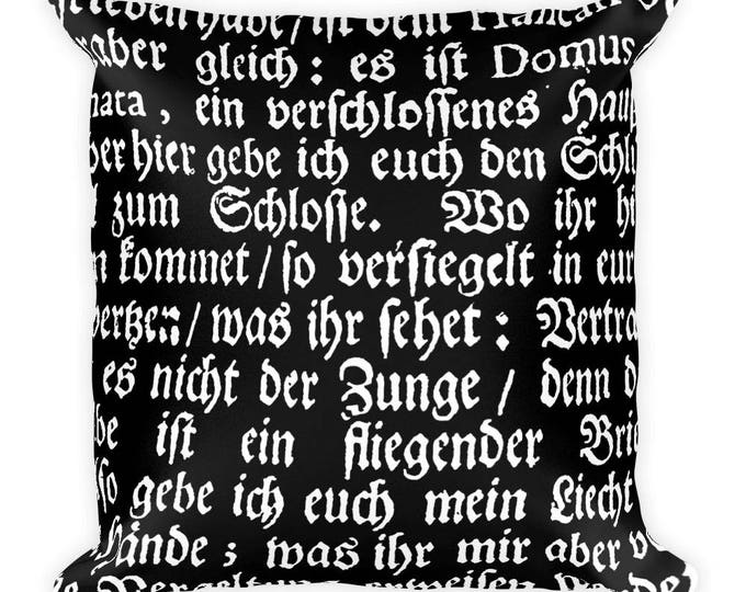 Deutsch- Throw Pillow