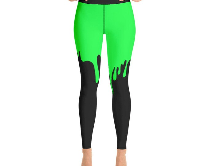 Green Slime Yoga Leggings