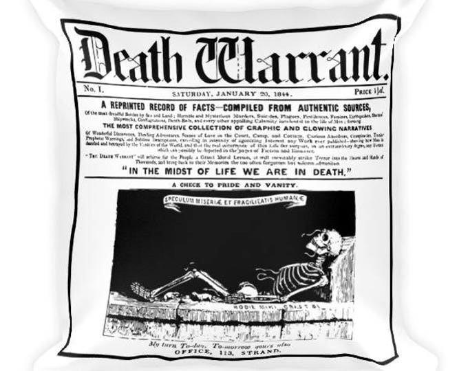 Death Warrant Throw Pillow