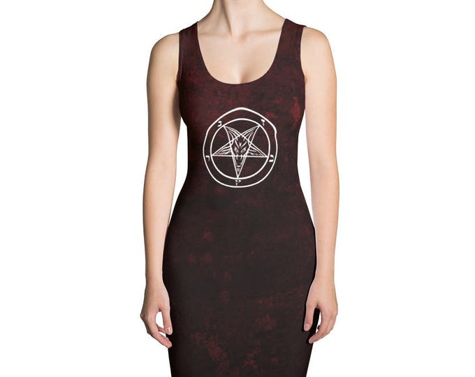 Red Baphomet Bodycon Dress