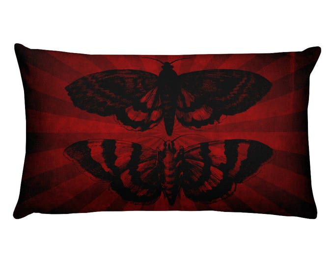 Mothra Rectangular Throw Pillow- Striped