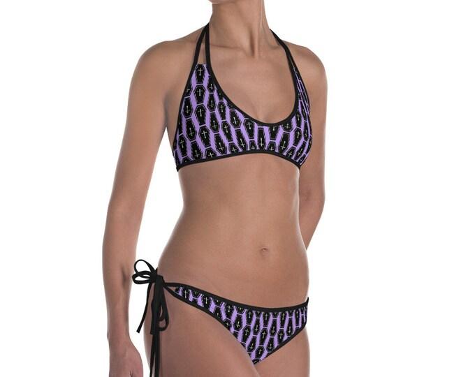 Purple Coffin Bikini