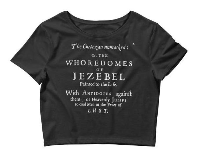 Jezebel Crop- Black